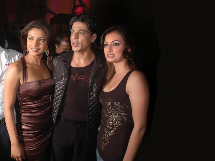 Priyanka Chopra with Shahrukh Khan and Diya Mirza