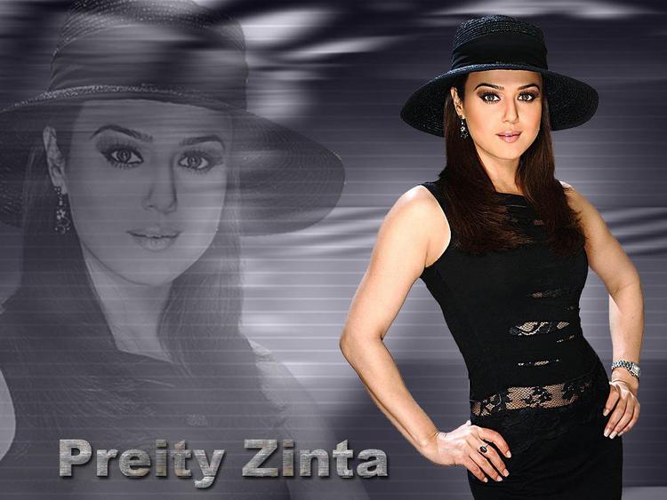 Preity Zinta Wearing Stylist Hat Wallpaper