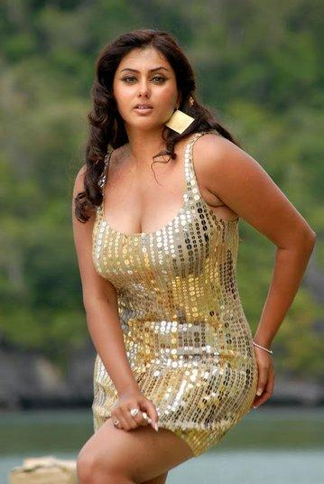 Namitha Golden Dress Hot Still