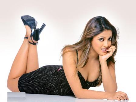 Tanushree Dutta Sleeping Pose Sexy Wallpaper