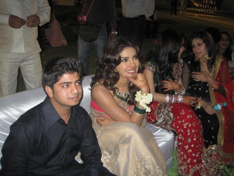 Priyanka Chopra at Her Best Friend Wedding in Jaipur
