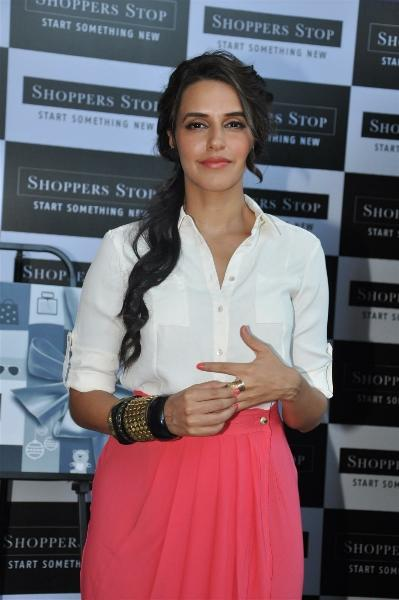 Neha Dhupia Nice Look at Shoppers Stop Gift Card Launch
