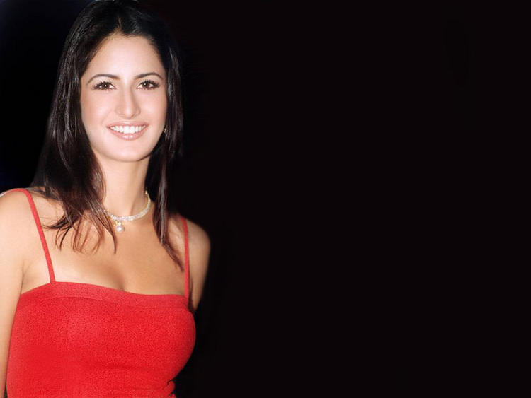 Katrina Kaif Sweet Smile Pic In Red Dress