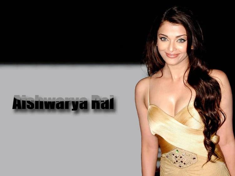 Aishwarya Rai Open Boob Show Gorgeous Wallpaper
