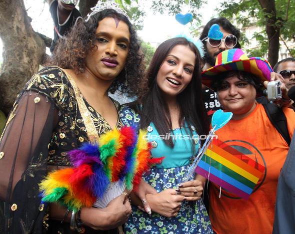 Celina Jaitley at the Gay Pride Parade in Mumbai
