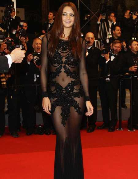 Candice Boucher Sexy Dress On Red Carpet at Cannes