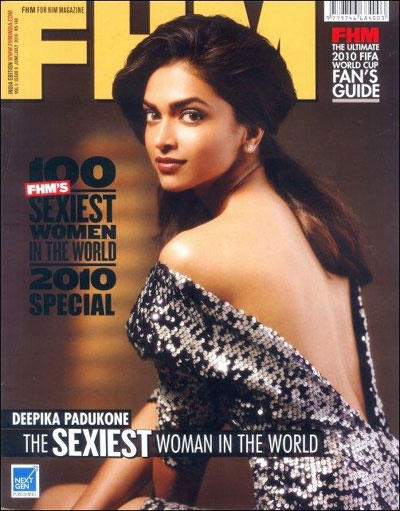 Deepika Padukone Sexy Back Bare Still For FHM Magazine