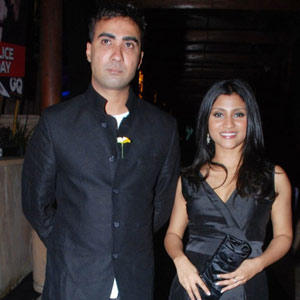 Ranvir and Konkona Latest Images In Black Dress