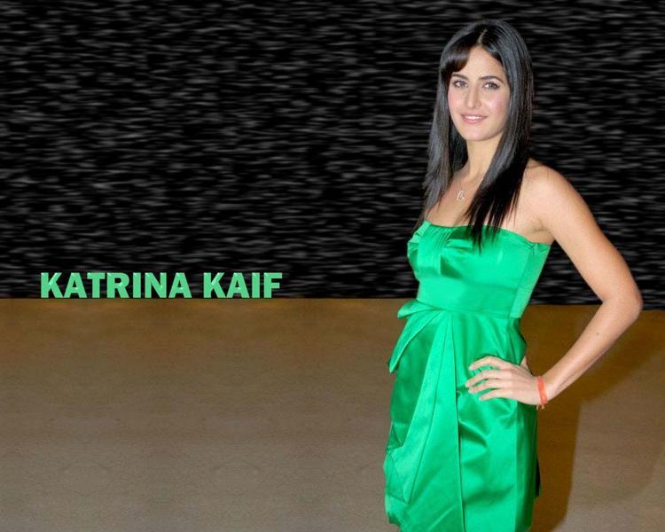 Katrina Kaif Glazing Green Dress Wallpaper