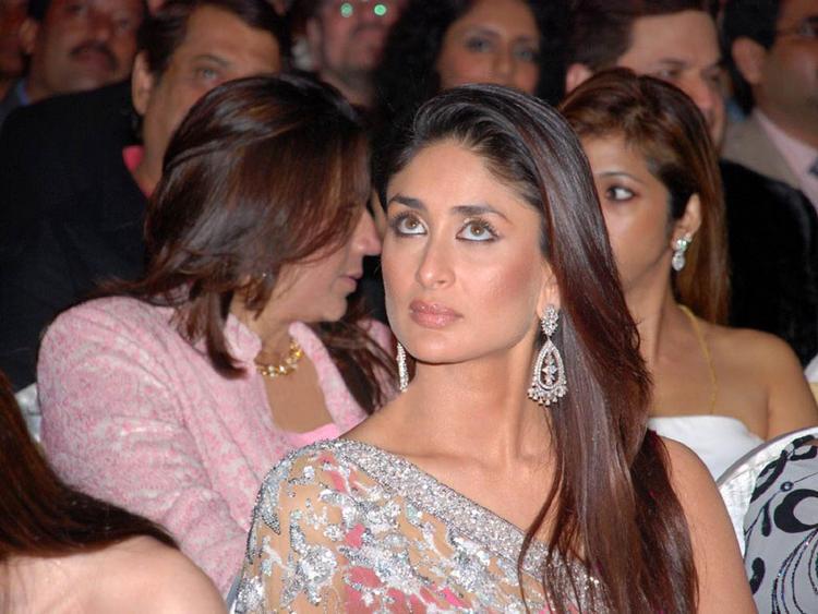 Kareena Kapoor Cute Angry Look In Saree