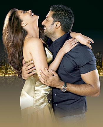 Abhishek and Aishwarya Hot Pic In Lux Advertisement