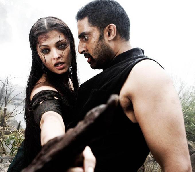 Aishwarya and Abhishek in Raavan