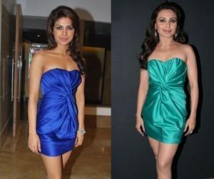 Priyanka Chopra And Rani Mukherjee Strapless Short Dress Nice Photo