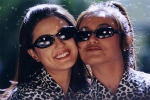 Rani Mukherjee With Preity Zinta Cute Smiling Pic