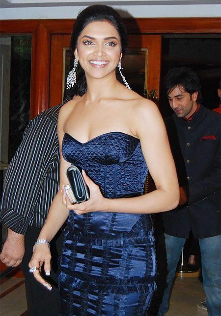 Hot Deepika Padukone Strapless Dress Sweet Still