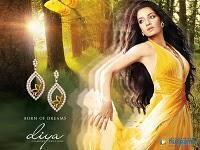Celina Jaitley Diya Diamond Jewellery Wallpaper