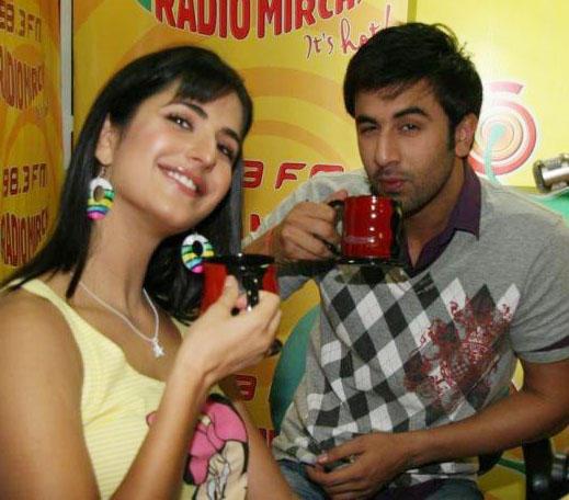 Katrina And Ranbir At Radio Mirchi To Promote Ajab Prem Ki Ghazab Kahani