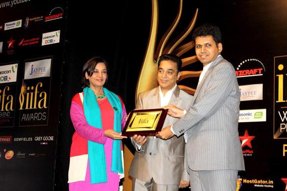 Kamal Hassan and Shabana Azmi During The International Indian Film Academy