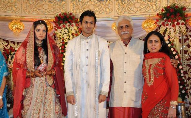 Sania Mirza and Shoaib Malik Reception Still