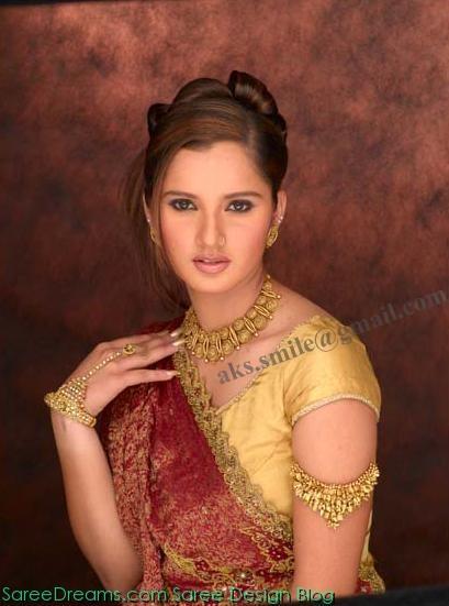 Sania Mirza Senseous Beauty Look In Saree