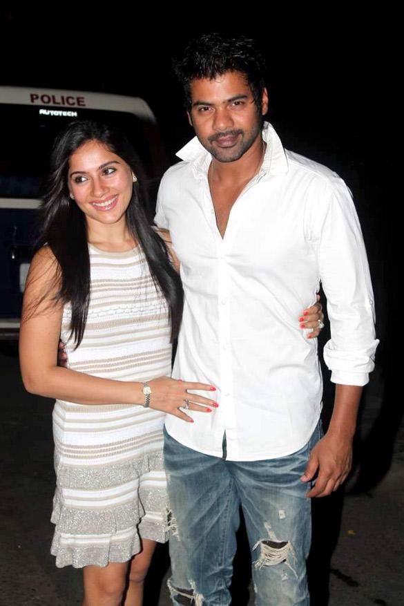 Shabbir with wife Kanchi Kaul at Ekta Kapoor's Birthday Bash