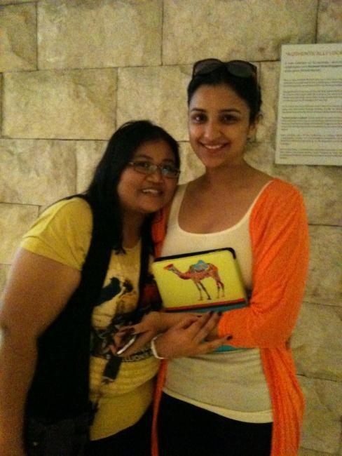 Parineeti Chopra Poses With a Fan