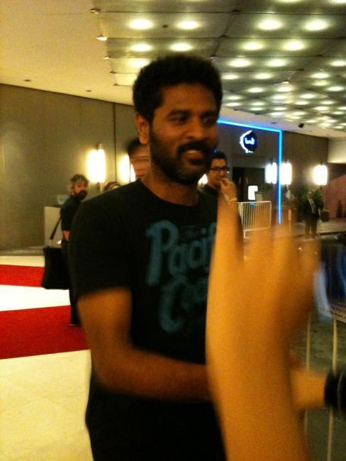 Prabhu Deva at Singapore International Airport
