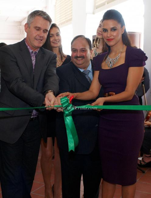 Neha Dhupia inaugurates Leading Italian Jewels in Singapore