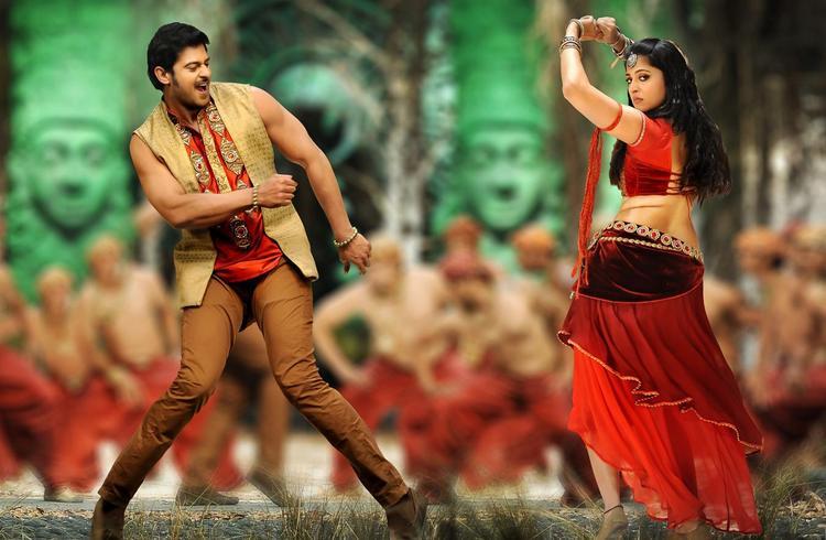 Prabhas And Anushka Dancing Photo Still From Movie Mirchi