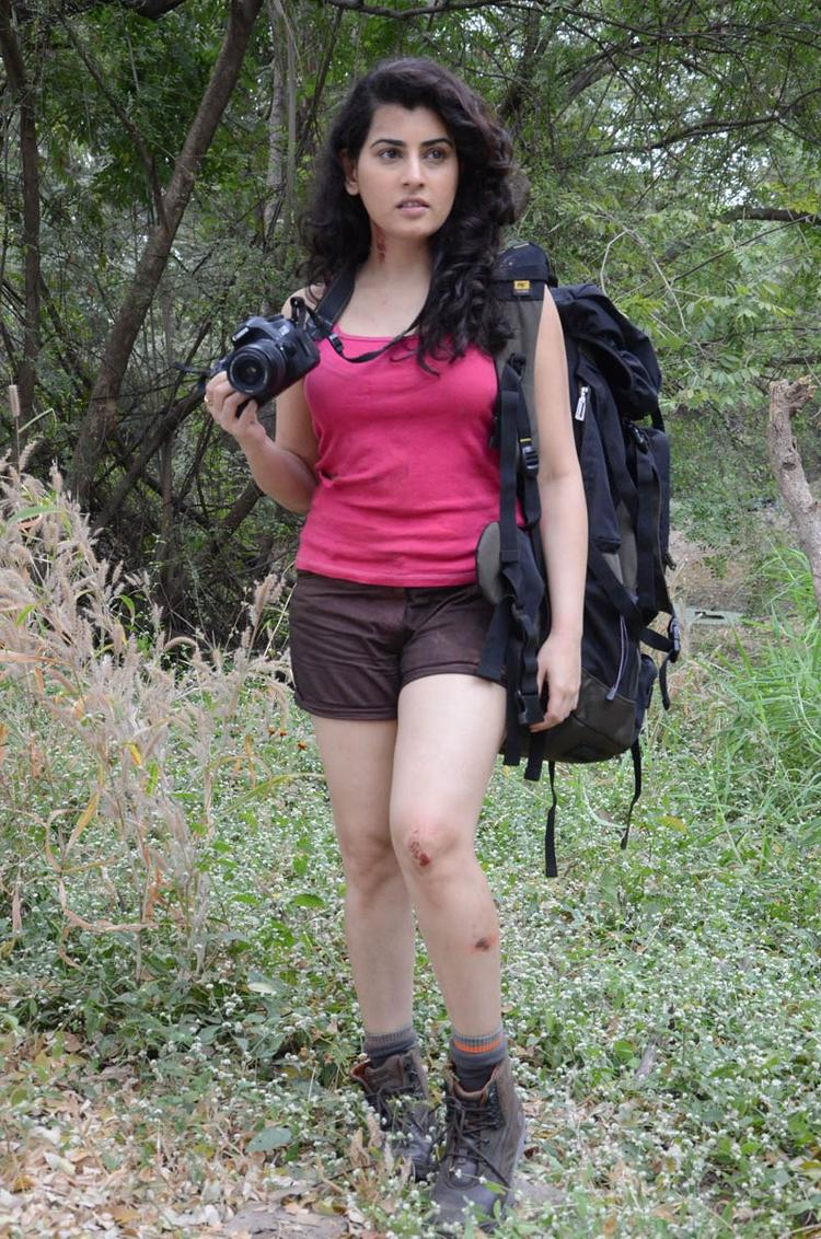 Archana Sexy Look Photo Still At Panchami Telugu Movie Press Meet