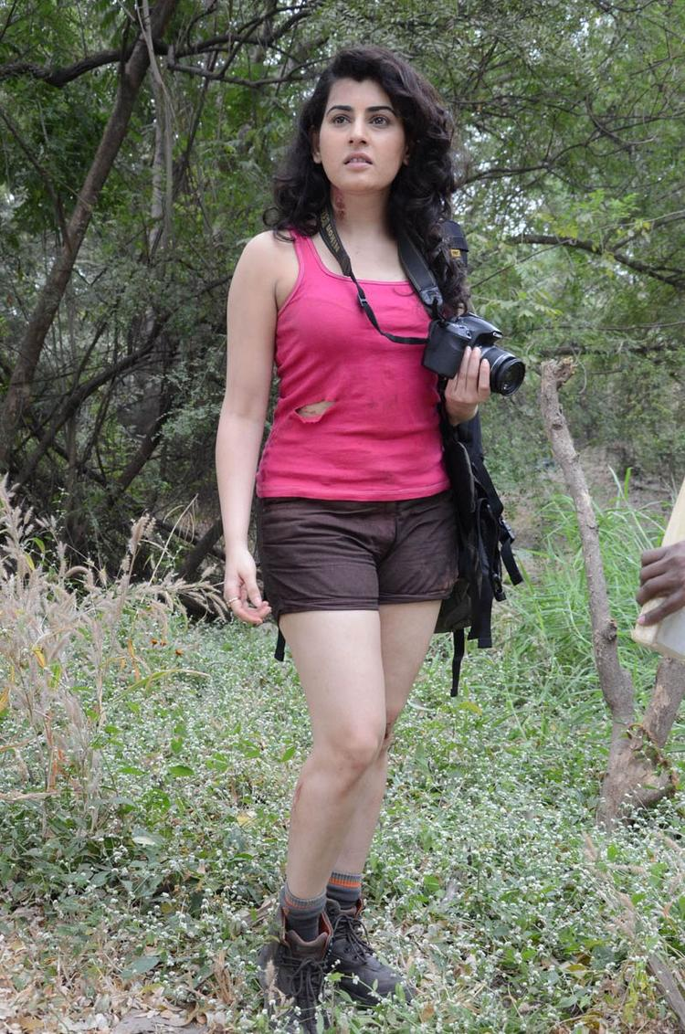 Archana Spicy Pose Photo Still At Panchami Telugu Movie Press Meet