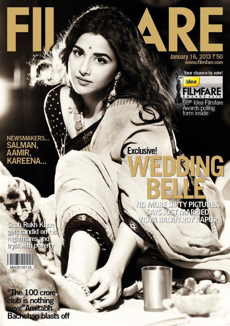 Hot Vidya Balan On The Cover Of Filmfare Middle East January 2013