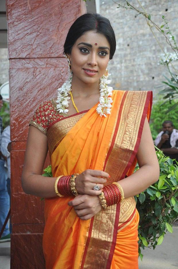 Shriya Saran In Saree Traditional Look Still