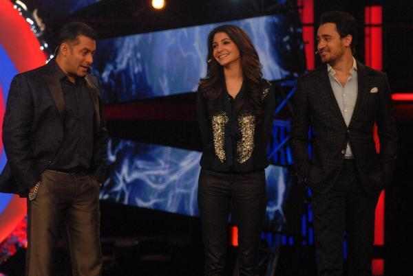 Imran And Anushka With Their Bigg Boss Host Salman On The Sets Of Bigg Boss 6