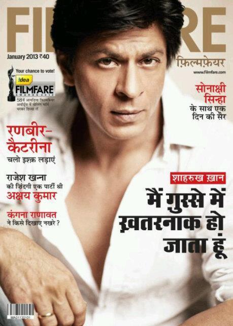 Shahrukh Khan On The Cover Of Filmfare Hindi January 2013