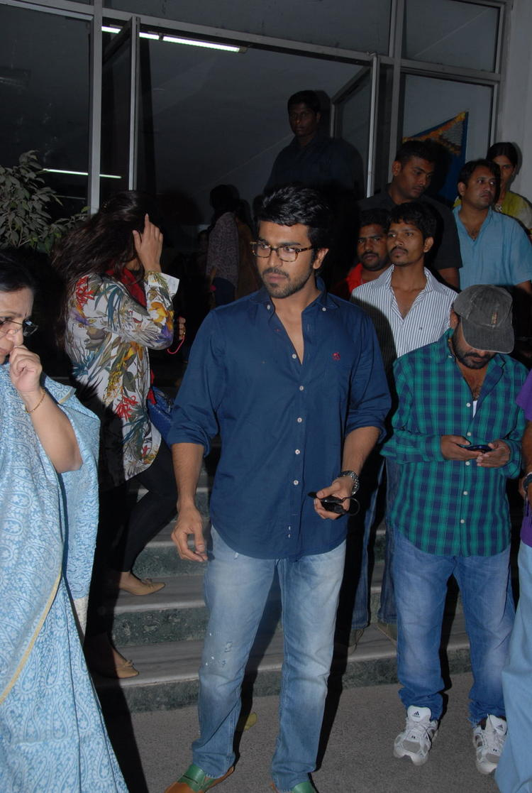Ram Charan Make An Appearance At Nayak Movie Premier Show