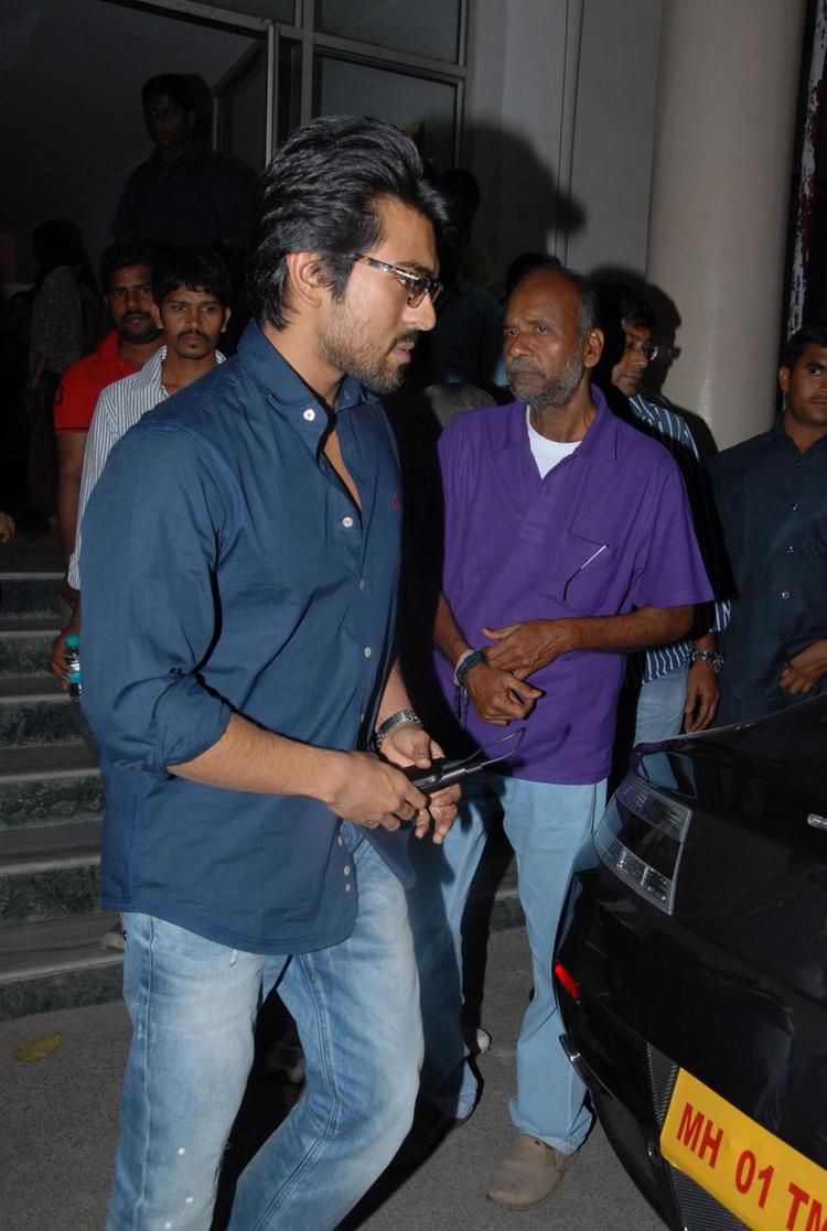 Ram Charan Photo Clicked During Nayak Movie Premier Show