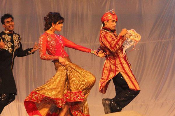 Priyanka Cute Expression During A Performance At 19th Colors Screen Awards
