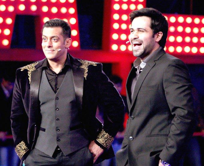 Emraan Snapped With Salman During Promotion Of His Movie Ek Thi Daayan At Bigg Boss 6 Grand Finale