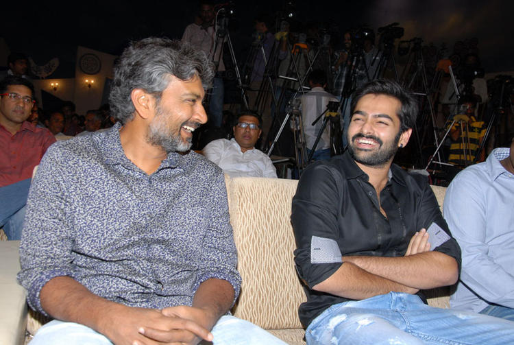 Ram Pothineni And S. S. Rajamouli Smiling Look At Ongole Gitta Audio Release Function