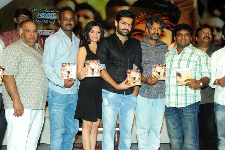 Ram,Kriti,S. S. Rajamouli And Others Show The CD At Ongole Gitta Audio Release Function