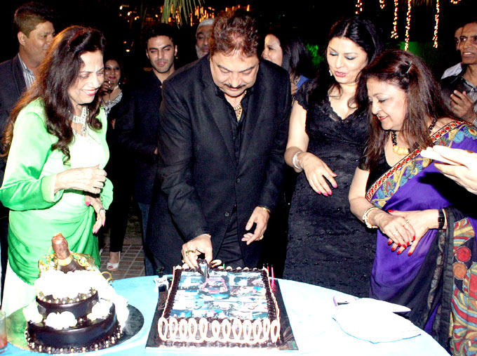 Surendra Wadhwani Cuts His Birthday Cake As Celeb Guests Look On Photo Clicked