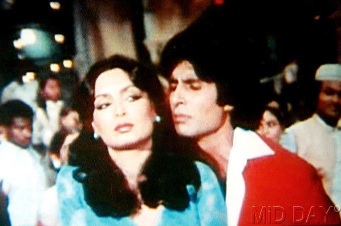 Parveen Babi And Big B In Khuddar Movie