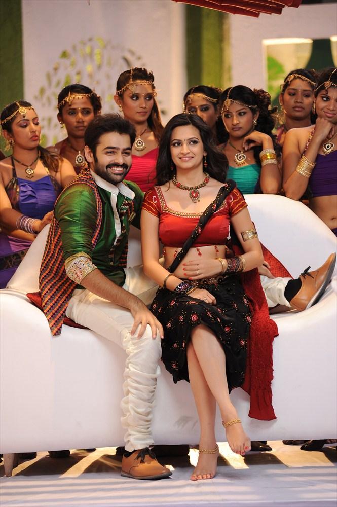 Ram And Kriti A Still From Ongole Gittha Movie