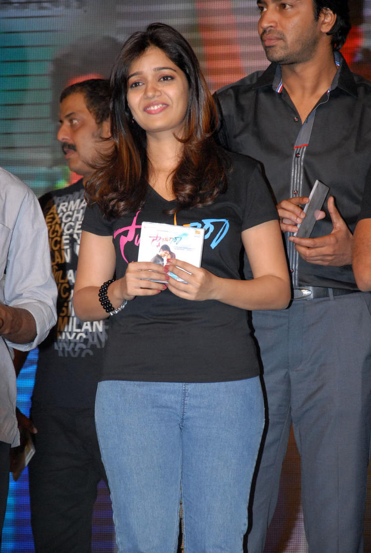 Swati Reddy Posed With CD At Swamy Ra Ra Audio Release Function