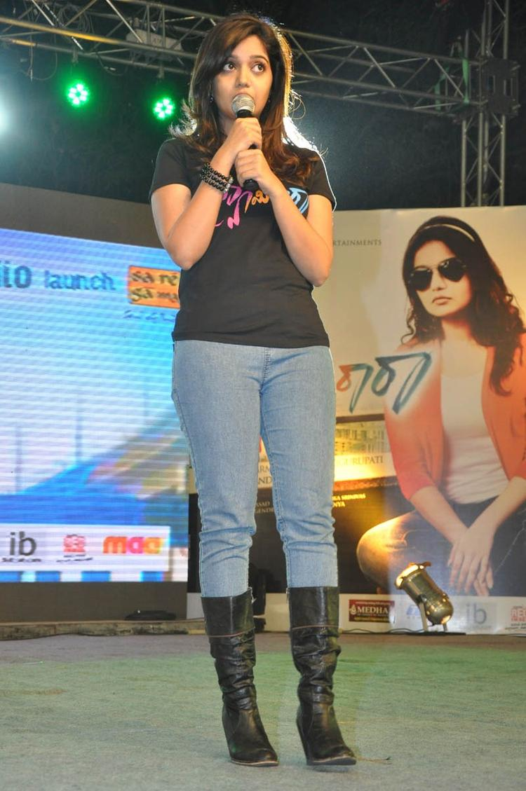 Swati Address The Audience At Swamy Ra Ra Audio Release Function