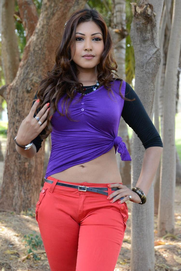 Komal Jha Spicy Look Photo Still From Movie Eduruleni Alexander