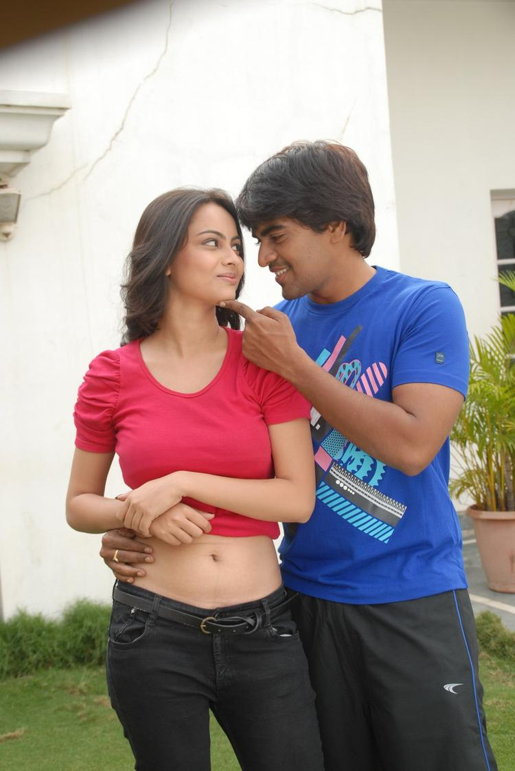 Srinivas And Sexy Simmi Romance Photo From Telugu Movie Churaka
