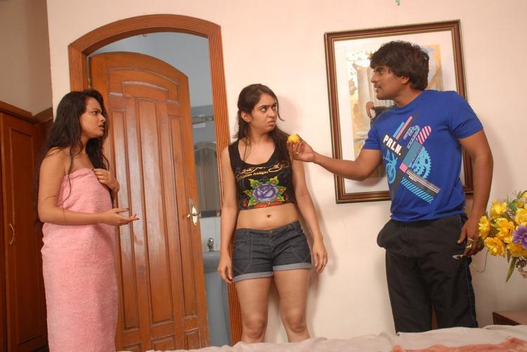 Srinivas And Simmi Acting Photo Still From Telugu Movie Churaka