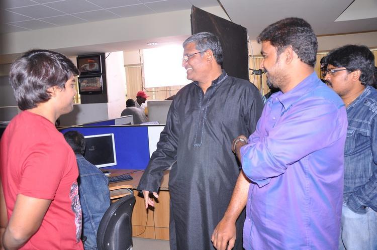 Srinivas And Tanikella Photo Clicked During Shooting Of Telugu Movie Churaka